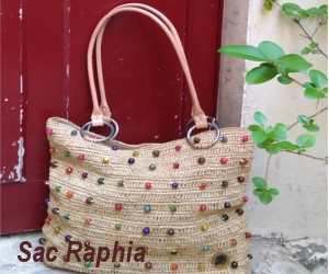 Tote Bag Raffia French Touch