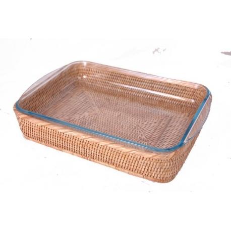 Pyrex Essentials Plat à lasagnes en rotin naturel  40x28x6 cm