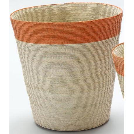 Corbeille . papier Grande Orange d32 Ray haute