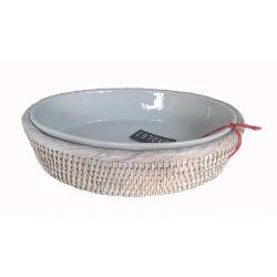 Plat ovale porcelaine L*