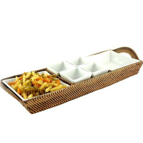 Plateau apéritif buffet porcelaine Pillivuyt