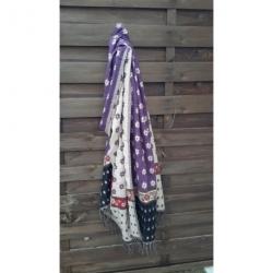 Echarpe Violette laine en poil de Yack design