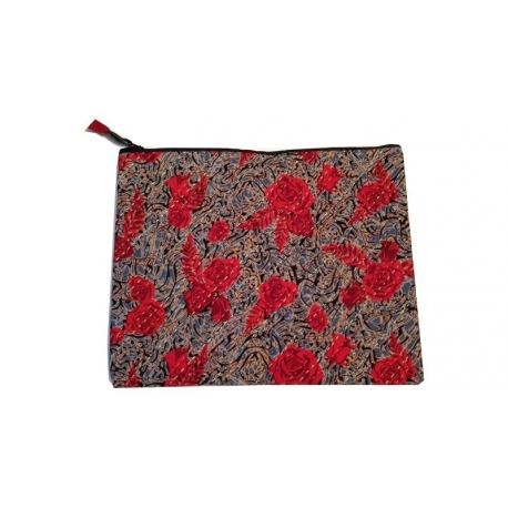 Pochette elegante Tissus Batik fleur