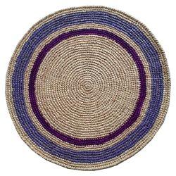 Set de table Raphia crochet fait main vert