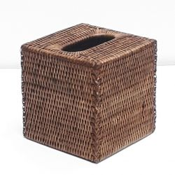 Brown square Tissue box M