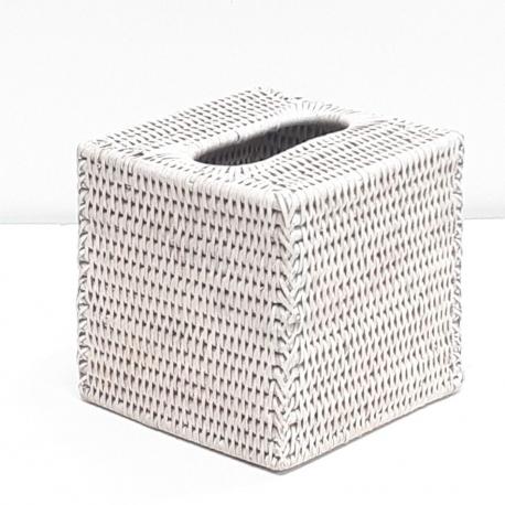 Boîte à kleenex carrée M blanc