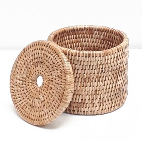 Boîte cylindrique + couvercle S naturel