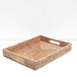 Natural rectangular tray M