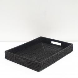Black rectangular tray M