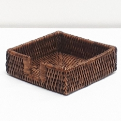Brown square napkin holder S