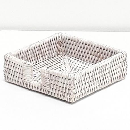 Porte-serviette carré S blanc