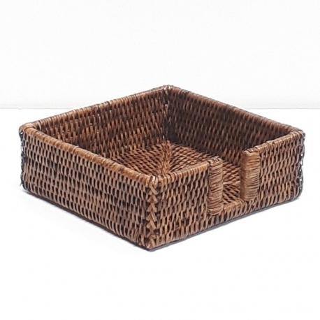 Porte-serviette carré M marron