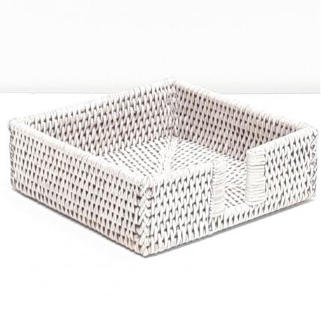 Porte-serviette carré M blanc