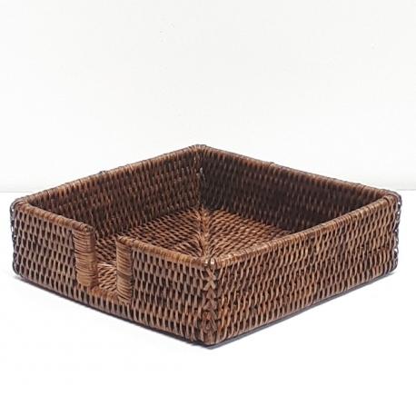 Porte-serviette carré L marron