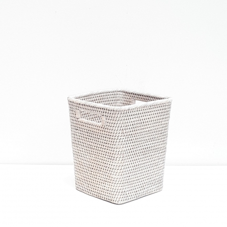 White square waste basket S