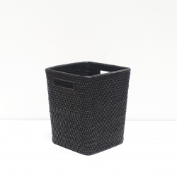 Black square waste basket S