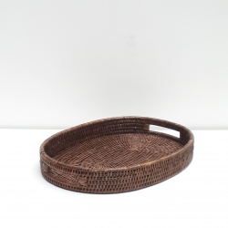 Brown oval tray M