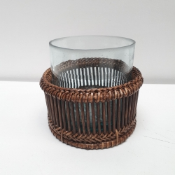 Brown set of 2 tealights different sizes S