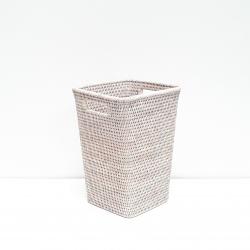 White square waste basket M