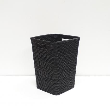 Corbeille à papier carrée évasée M noir