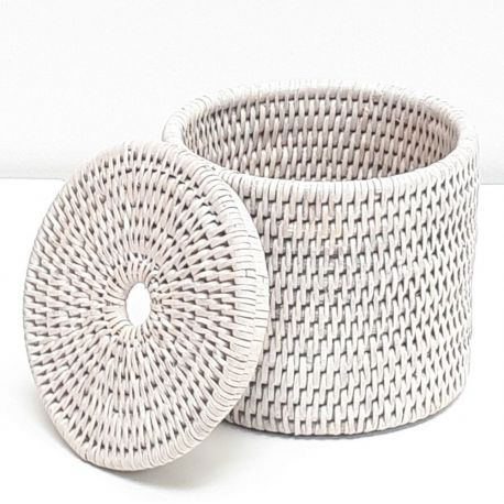Boîte cylindrique + couvercle S marron