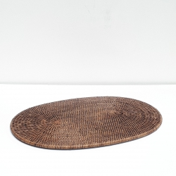 Brown Oval placemat L