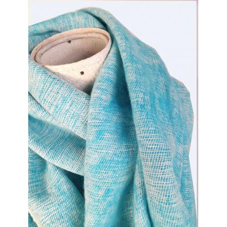 Echarpe laine de Yack Bleu Marine