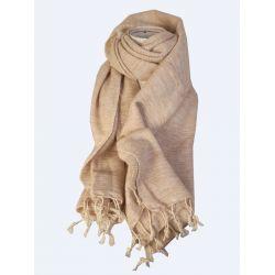 Echarpe laine de Yack Beige