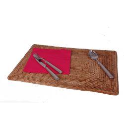 Set de table  rectangulaire Rotin Naturel