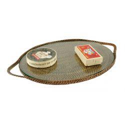Plateau à fromages ou gâteaux ovale chic en vigne d'eau