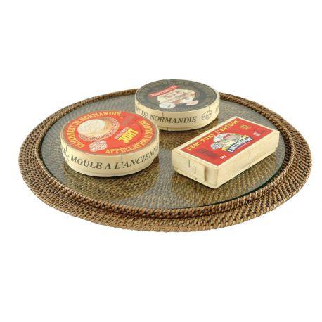 Plateau à fromages / Plat à tartes en vigne d'eau