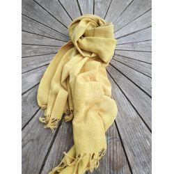 Echarpe jaune canari pastel