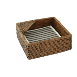 Small rattan napkin holder