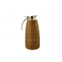 Rattan 1L isotherm stainless steel carafe