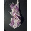 Echarpe coton Bio Organique avec Rayures